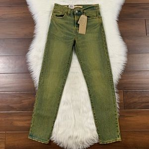 Levi's Yellow Grunge Wash Wedgie Fit Denim Jeans